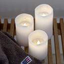 Bougies LED cire blanche Tenna Sirius lot de 3